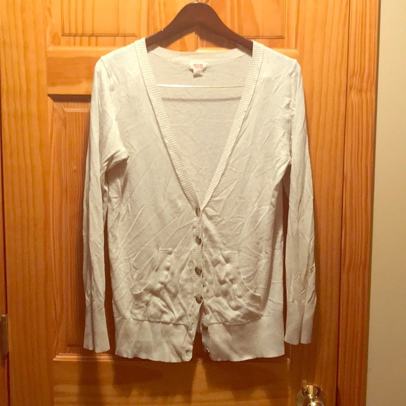 Mossimo Supply Co. Sweaters - Tan button up cardigan, Mossimo, size L